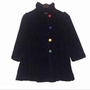 VTG Young Gallery Girl's Black Winter Coat 6X